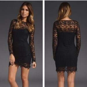 For Love and Lemons Scarlet Lace Dress
